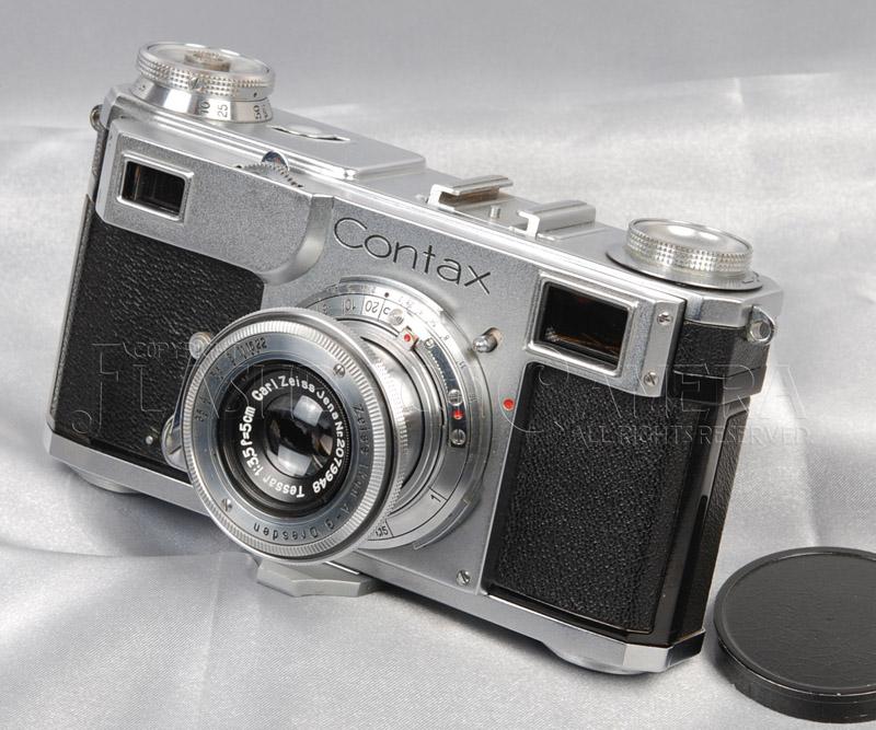 コンタックス II型 + テッサー 50mm f3.5 【レンズ、ファインダー清掃済】