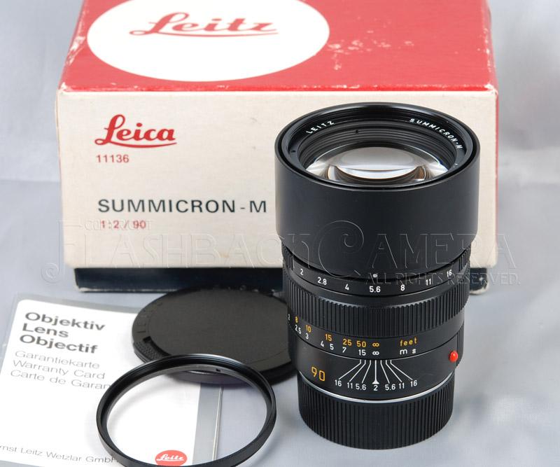 ズミクロンM 90mm f2 (M) ブラック Summicron-M 90/2
