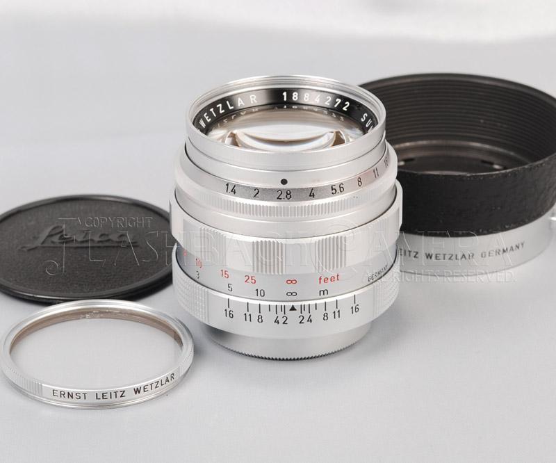 ズミルックス 50mm f1.4 (L) ライカ Lマウント フード付 OH済 Summilux 50/1.4