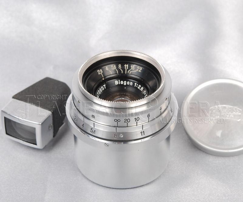 ビオゴン 35mm f2.8 (Contax) ファインダー付 Biogon 35/2.8 コンタックス